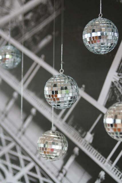 Hanging Chair 21 Sparkling Disco Ball Décor Ideas For Winter Parties