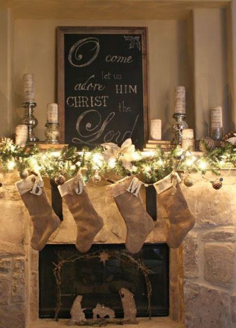 25 Ultimate Christmas Mantel Décor Ideas - Shelterness - christmas mantel decor