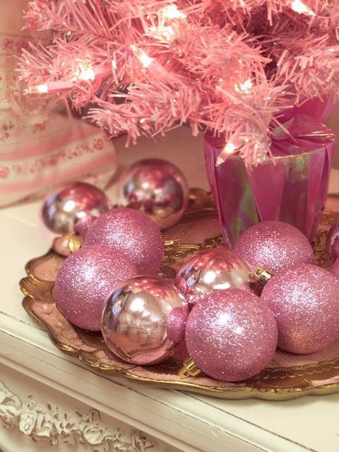 silver glass ornaments