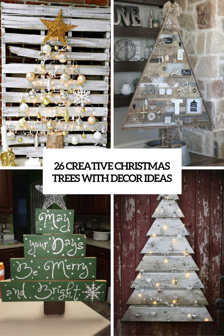 Shabby Chic Weihnachtsbaum 26 Creative Pallet Christmas Trees With Decor Ideas Shelterness