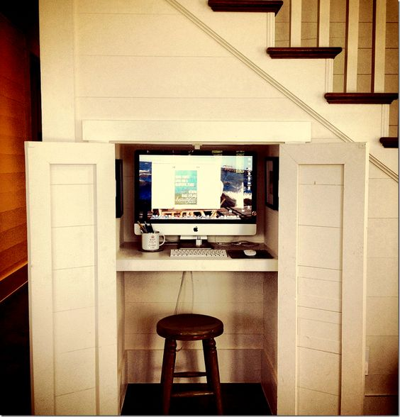 Cabinet Cupboard 20 Hideaway Desk Ideas To Save Your Space - Shelterness