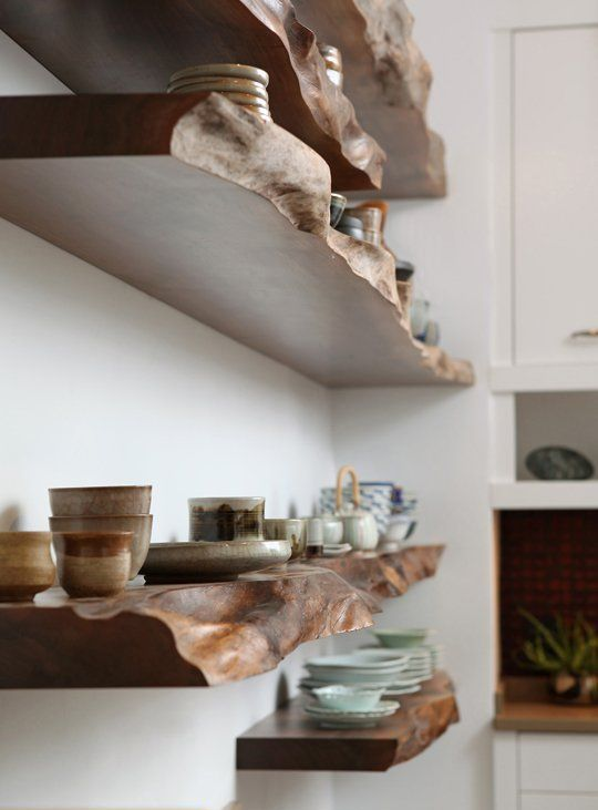 Küche Selber Bauen Pinterest 24 Chic Live Edge Wood Furniture Objects To Try - Shelterness