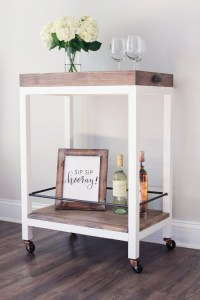 9 Chic And Quick To Make DIY Bar Carts - Shelterness
