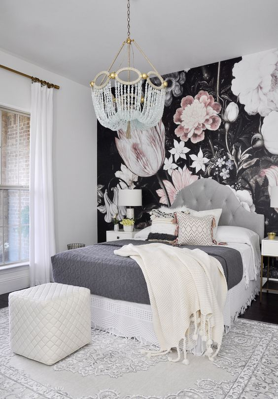 Cute Wallpapers For Girl Rooms 20 Super Trendy Moody Floral Wallpaper Ideas Shelterness