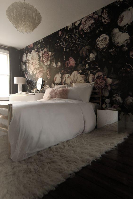 Beautiful Girl Bedroom Wallpaper 20 Super Trendy Moody Floral Wallpaper Ideas Shelterness