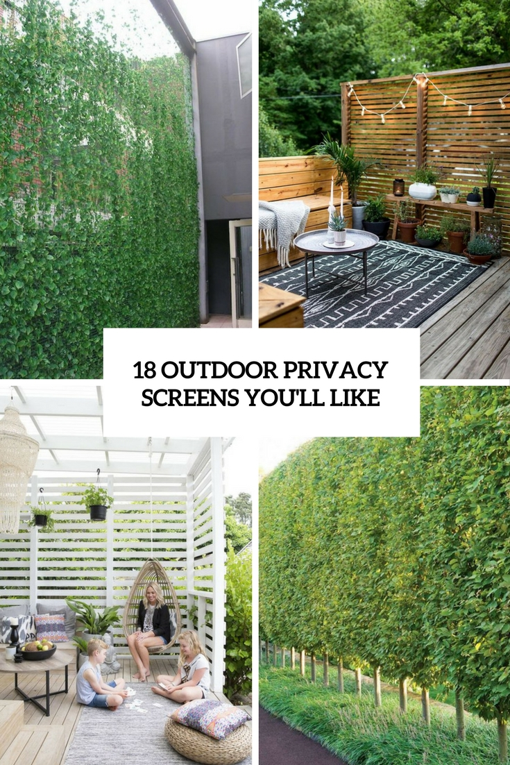 Privacy Screens Outdoor 18 Outdoor Privacy Screens You Ll Like Shelterness