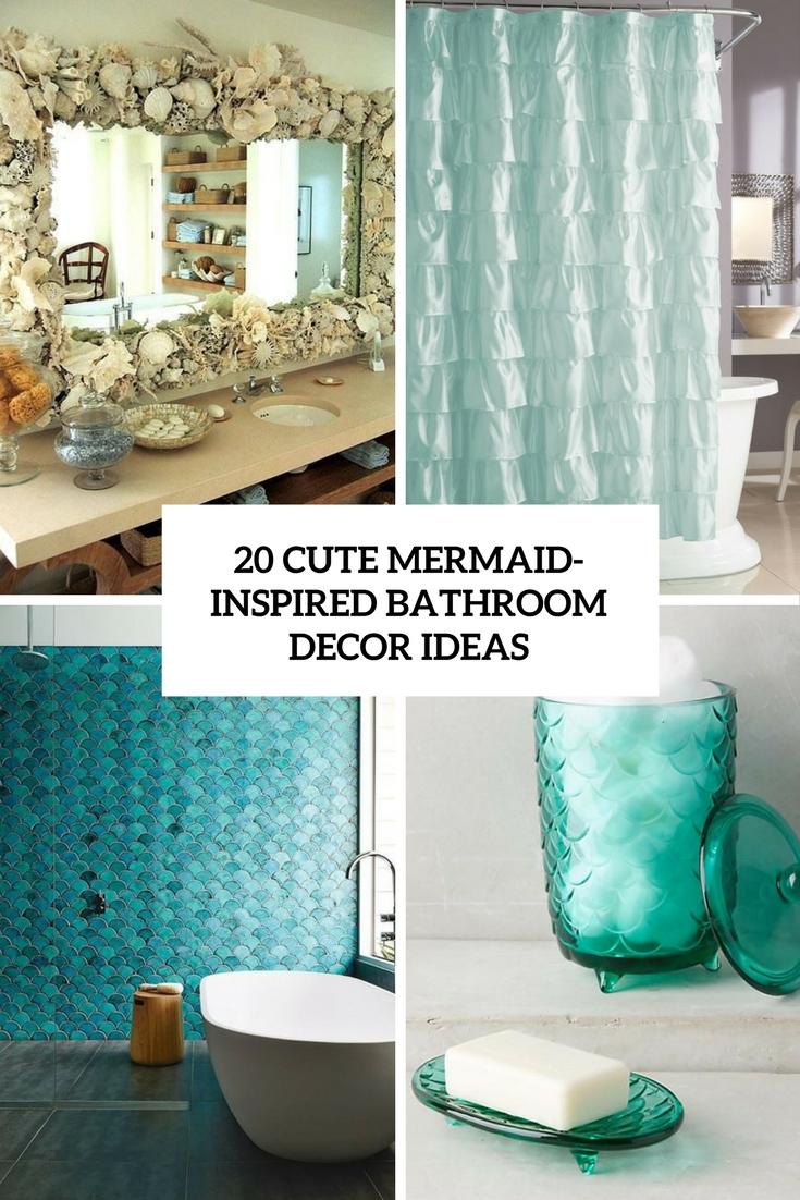 Mermaid bathroom accessories -  Mermaid Inspired Bathroom Decor Ideas Cover Download