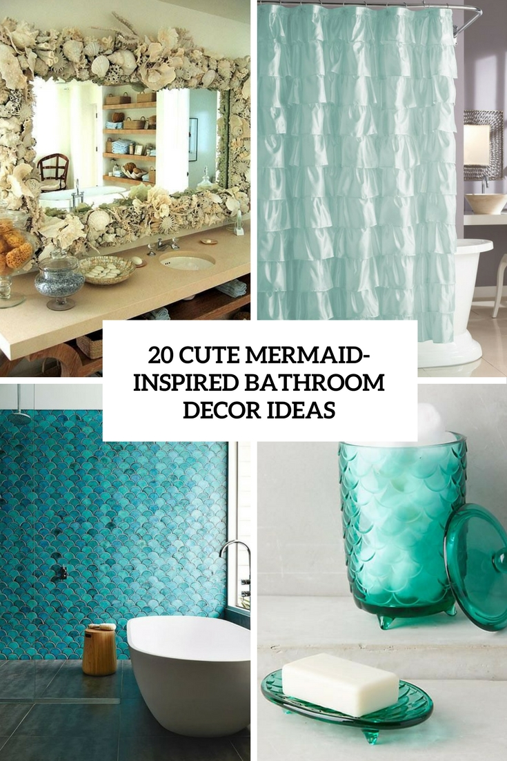 Mermaid Scale Shower Curtain 20 Cute Mermaid Inspired Bathroom Décor Ideas Shelterness