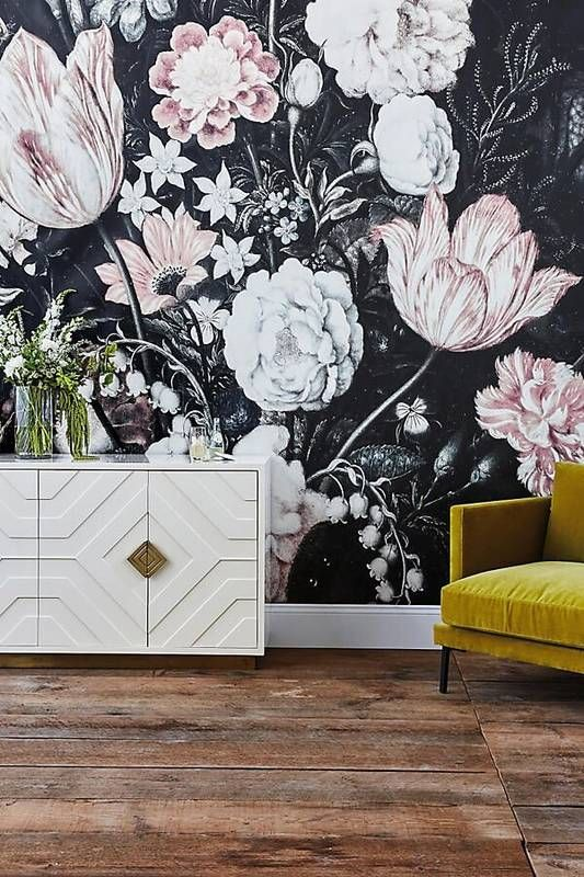 3d Wallpaper For Living Room In India 20 Super Trendy Moody Floral Wallpaper Ideas Shelterness