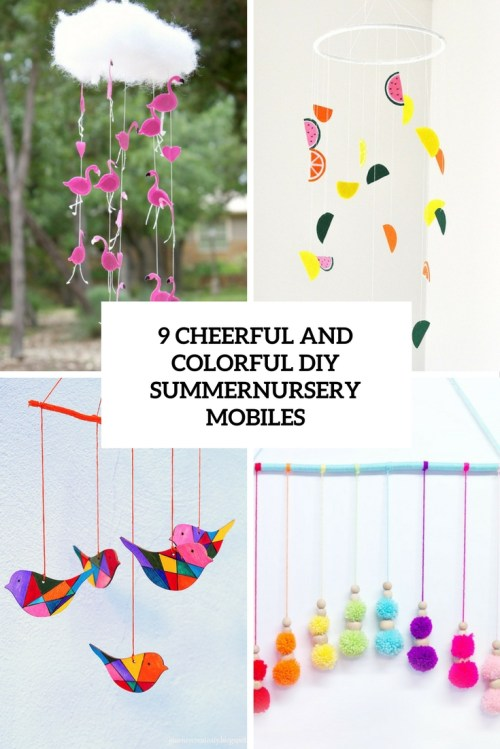 Intriguing Colorful Diy Summer Nursery Mobiles Diy Baby Mobiles Archives Shelterness Diy Baby Mobile Woodland Diy Baby Mobile Instructions