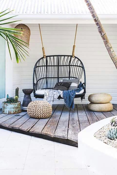 Bank Rattan 15 Wicker Swing Ideas For Your Outdoor Space - Shelterness