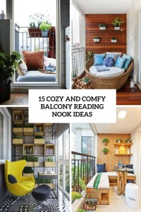 15 Cozy And Comfy Balcony Reading Nook Ideas - Shelterness