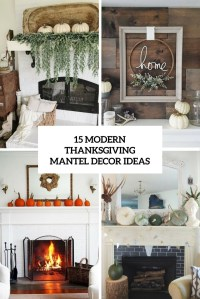 15 Modern Thanksgiving Mantel Decor Ideas - Shelterness