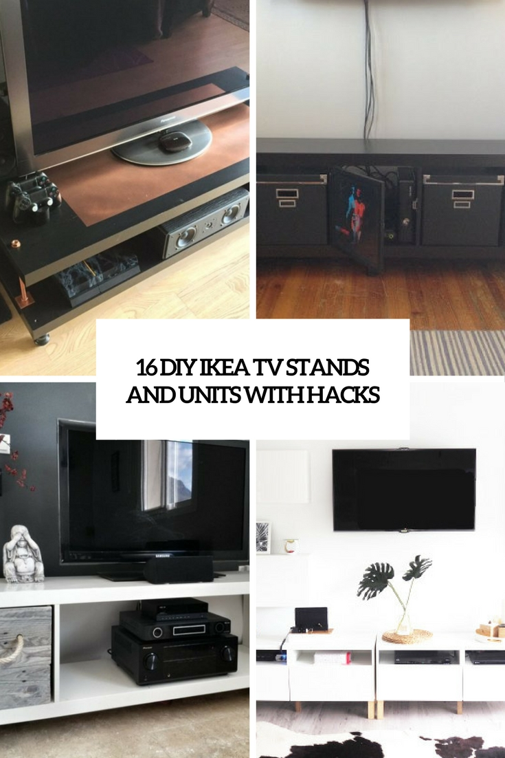 Tv Units 16 Diy Ikea Tv Stands And Units With Hacks Shelterness