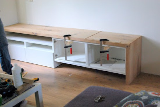 Diy Tv Meubel 16 Diy Ikea Tv Stands And Units With Hacks - Shelterness