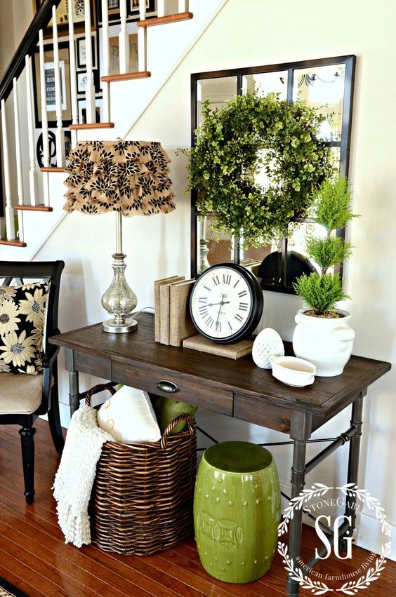 home office decorating ideas with parson desk