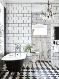 15 Non-Boring Black And White Bathroom Decor Ideas ...