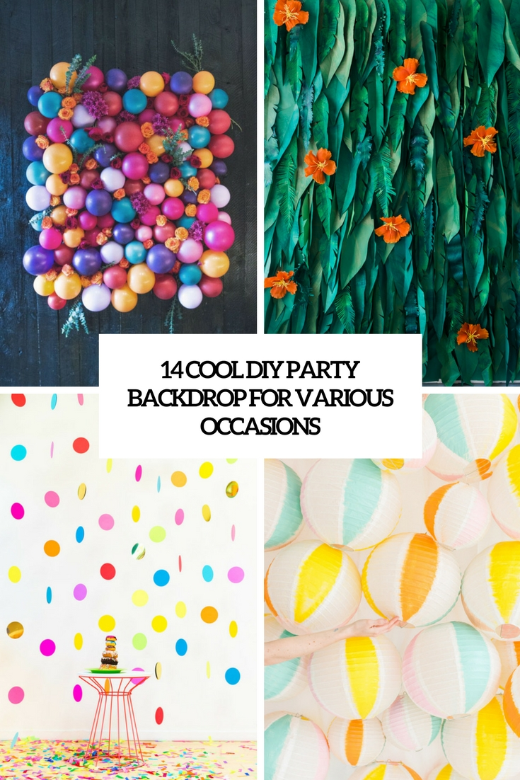 Diy Party 14 Cool Diy Party Backdrops For Various Occasions Shelterness