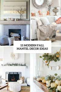 15 Modern Fall Mantel Decor Ideas - Shelterness