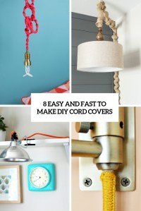 8 Easy And Fast To Make DIY Cord Covers - Shelterness