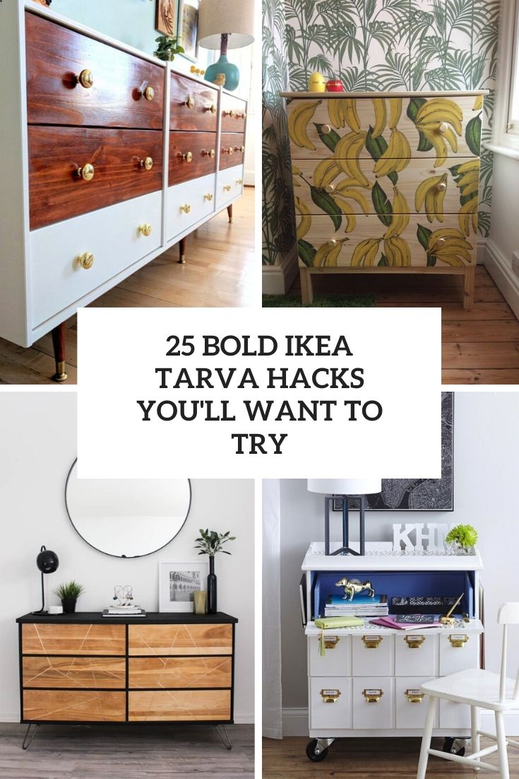 25 Bold Ikea Tarva Hacks You Ll Want To Try Shelterness