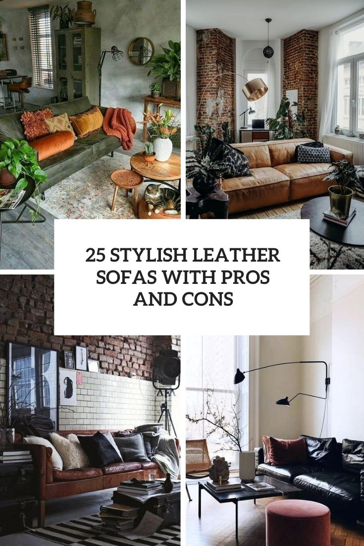 25 Stylish Leather Sofas With Pros And Cons Shelterness