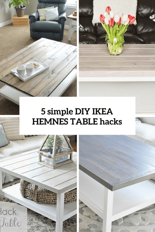 Fashion For Home Couchtisch 5 Simple Diy Ikea Hemnes Coffee Table Hacks - Shelterness