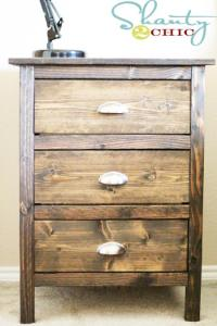 10 Awesome DIY Wood Nightstands - Shelterness