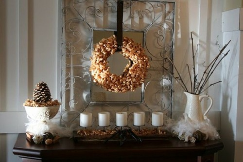 Christmas Decorations Living Room 44 Cozy Winter Mantle Décor Ideas - Shelterness