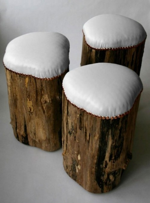 Vanity Stool 21 More Creative Tree Stump Decorating Ideas - Shelterness