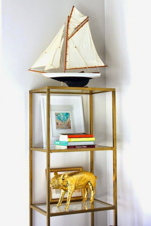 Ikea Vittsjo Coffee Table Diy Gold Etagere From An Ikea Shelf - Shelterness