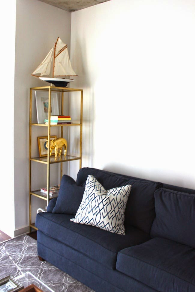 Picture Of Diy Gold Etagere From An Ikea Shelf - Ikea Etager