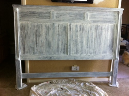 White Country French Kitchen Cabinets 7 Diy Shabby Chic Whitewashed Headboards - Shelterness