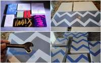 Picture Of Diy Wall Art Of Shoeboxes