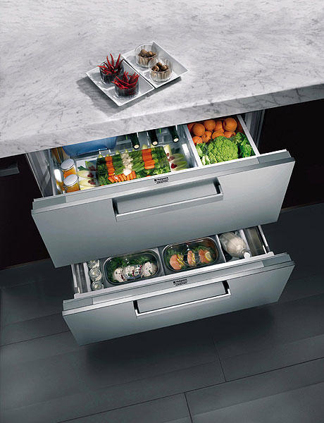 refrigerator drawers fresh veggies hand metal kitchen utensils organizers choices top drawers