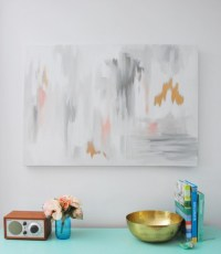 Oversized DIY Abstract Wall Art Piece - Shelterness