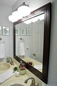 Stylish DIY Framed Bathroom Mirror - Shelterness