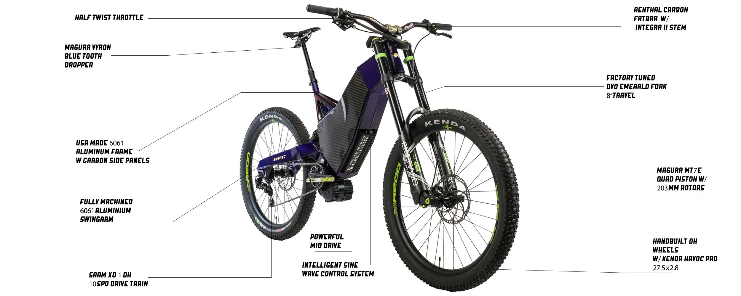 E Full In Revolution M Pro The Ultimate Downhill E Bike Hi Power Cycles