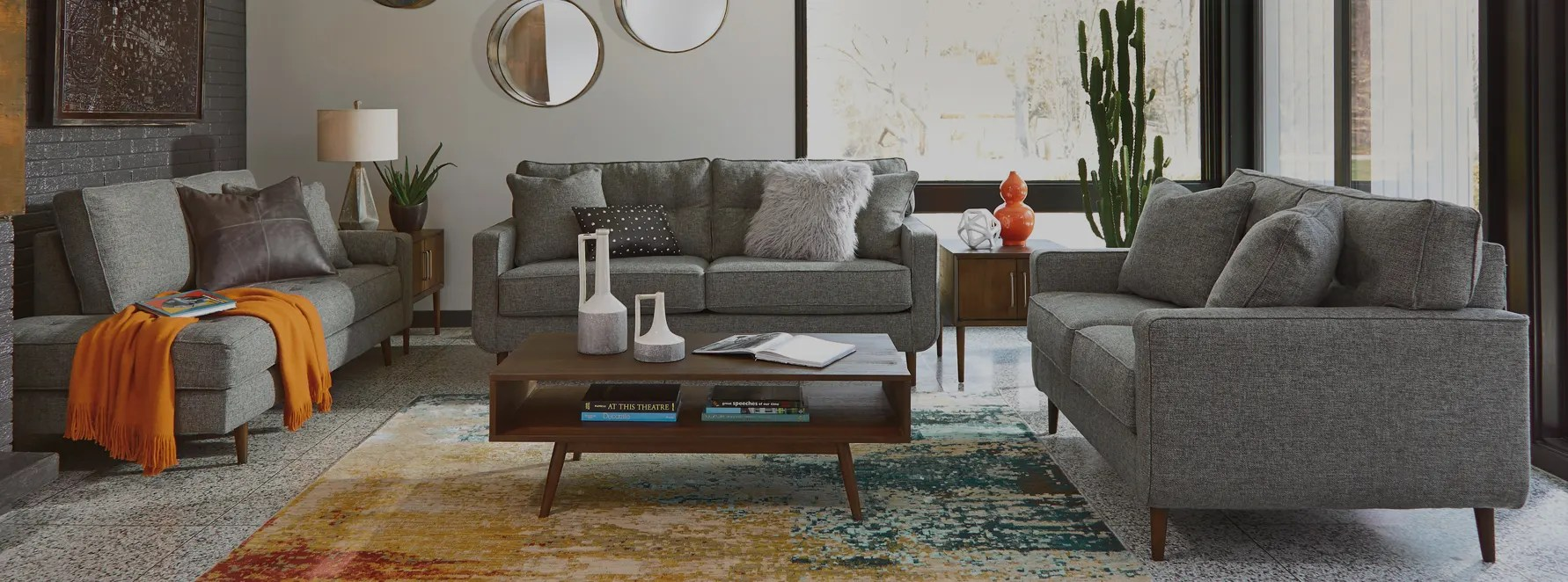 Modern Living Room Furniture For Small Spaces Small Spaces Ashley Homestore Canada