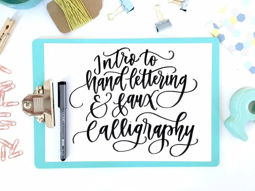 Calligraphy For Beginners Online Intro To Hand Lettering Fax Calligraphy Online Course