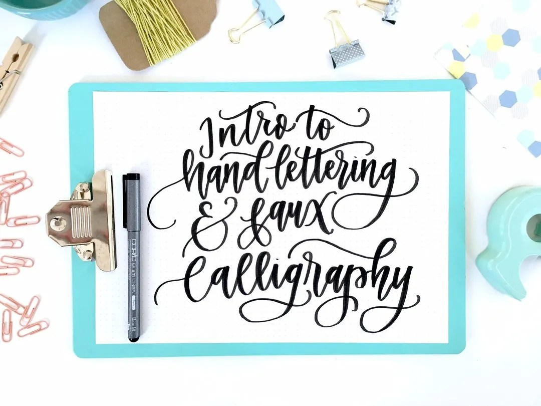 Calligraphy Online Intro To Hand Lettering Fax Calligraphy Online Course