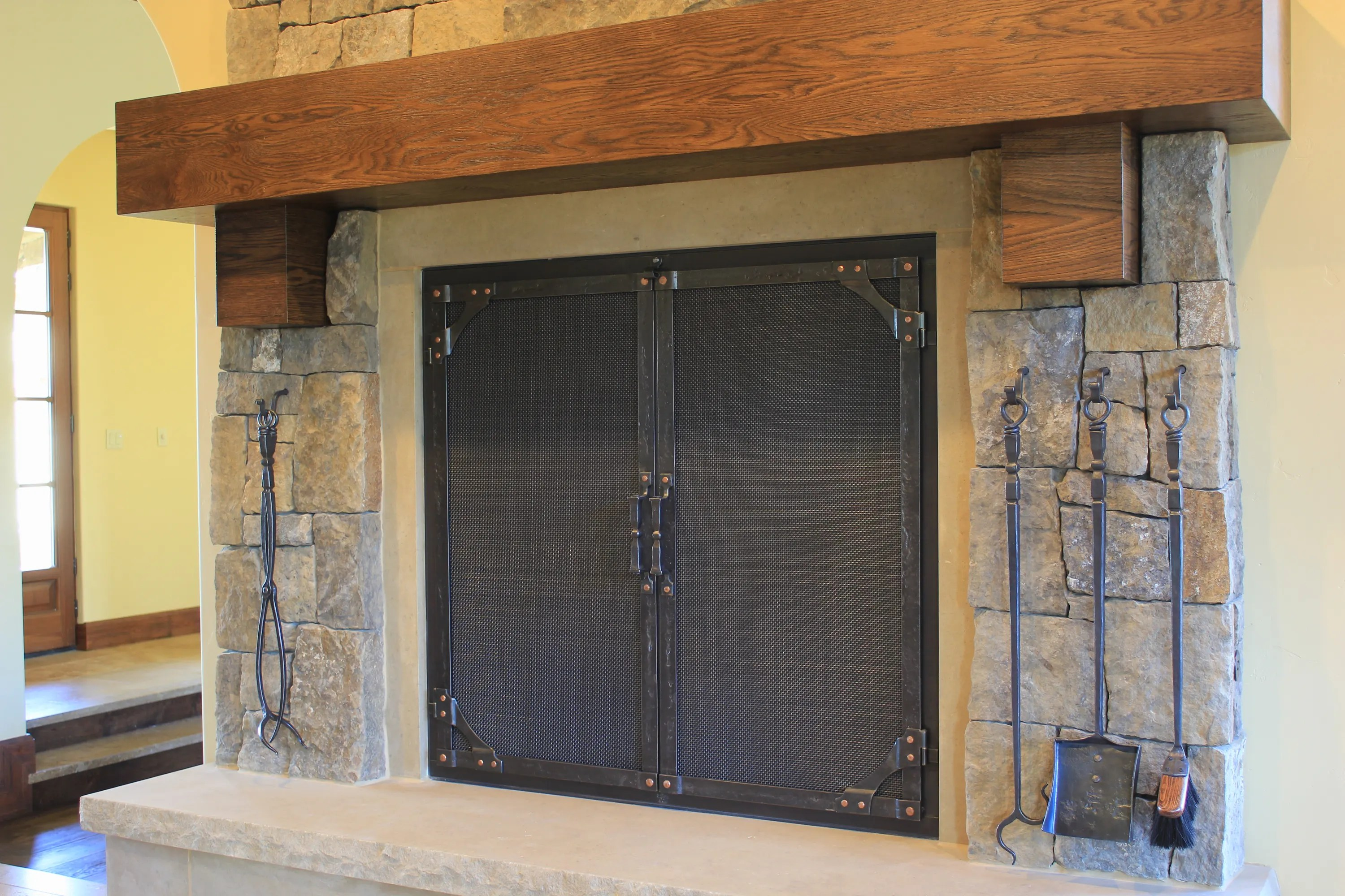 Custom Glass Fireplace Doors Custom Fireplace Doors Ponderosaforge