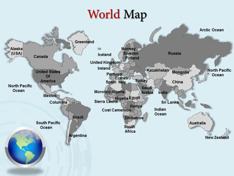 Download Editable World Map Power Point- Powerpointmapsonline