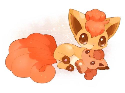 Cute Pokemon Valentines Wallpaper Goupix Et Evoli