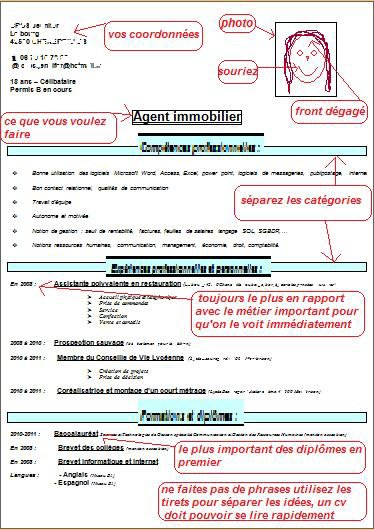 exemple cv competences restauration