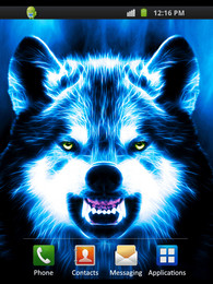 3d Image Live Wallpaper Android App Scary Wolf Live Hintergrund Download Samsung S5830