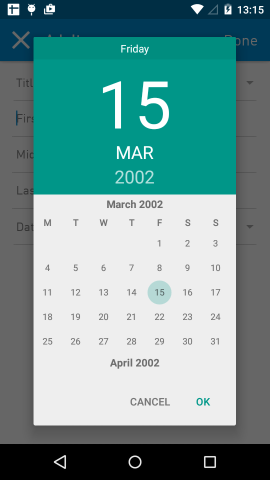 Create New Google Calendar To Share Google Forms Create And Analyze Surveys For Free Java Android Marshmallow Custom Calendar Date Picker