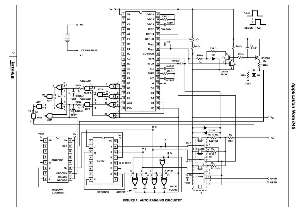 working block diagram of multimeter