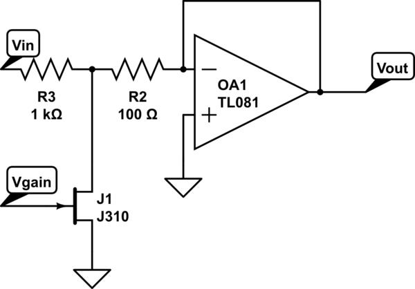 op amp attenuator circuit