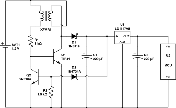 joule thief schematic